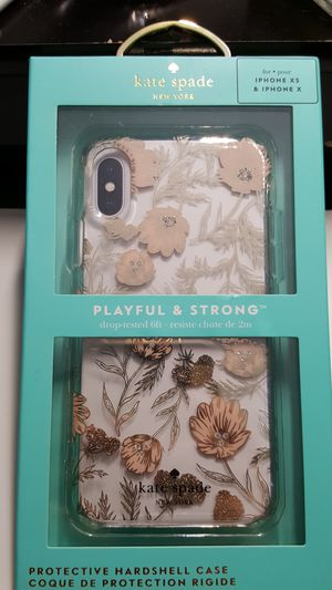 """Case kate spade for iphone x/x 5.8"""" clear-goldrose new 15firm now ship out of the town for Sale in Phoenix, AZ"""