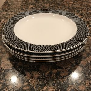 Vintage Mikasa Savoy Onyx Fine China Dinner Plates - 4 piece for Sale in Tampa, FL