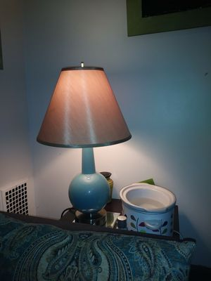 Two lamps with base plugs for charging. Shades not included. for Sale in Columbus, OH