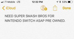 Super smash bros Nintendo switch trades buy for Sale in Dallas, TX