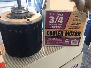 Evaporator cooler motor 3/4 HP brand new perfect condition in the original packaging for Sale in Las Vegas, NV