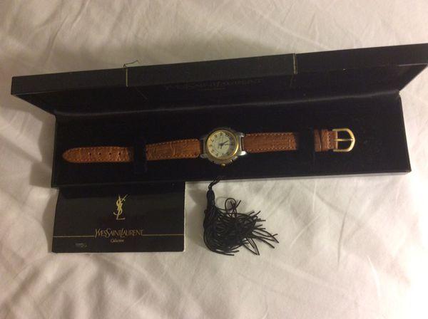 Yves Saint Laurent leather watch