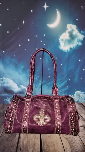 Brand New Purple Fleur de lis Handbag for Sale in UT, US