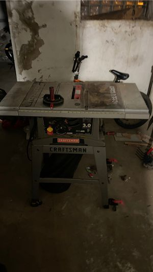 Craftsman's table saw works great for Sale in Philadelphia, PA
