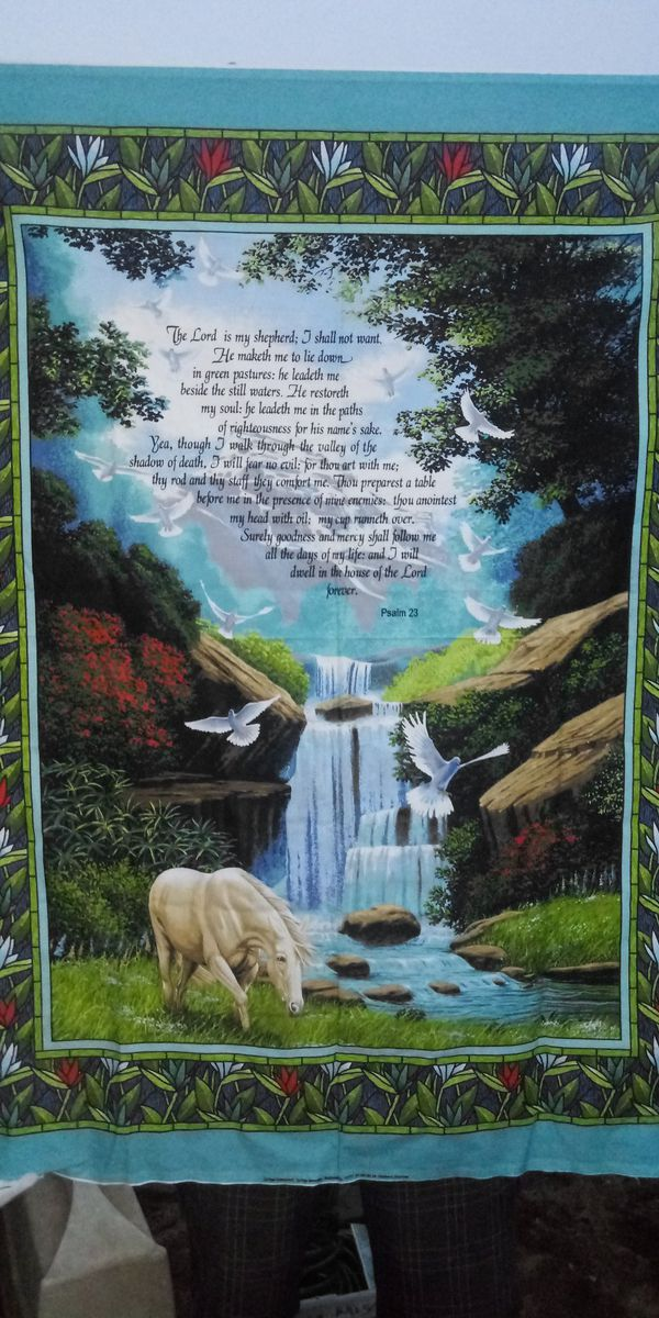Tapestry with The Lords Prayer