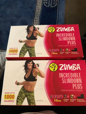 Set of two brand new never used zumba dance program for Sale in Clarksville, TN
