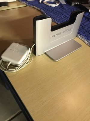 Henge Dock and 60 watt MagSafe 2 power adapter for Apple 13-Inch Retina 2013-2015 for Sale in Claremont, CA