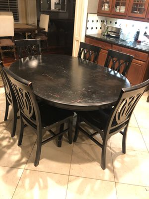 Pier one table and six chairs for Sale in Del Mar, CA