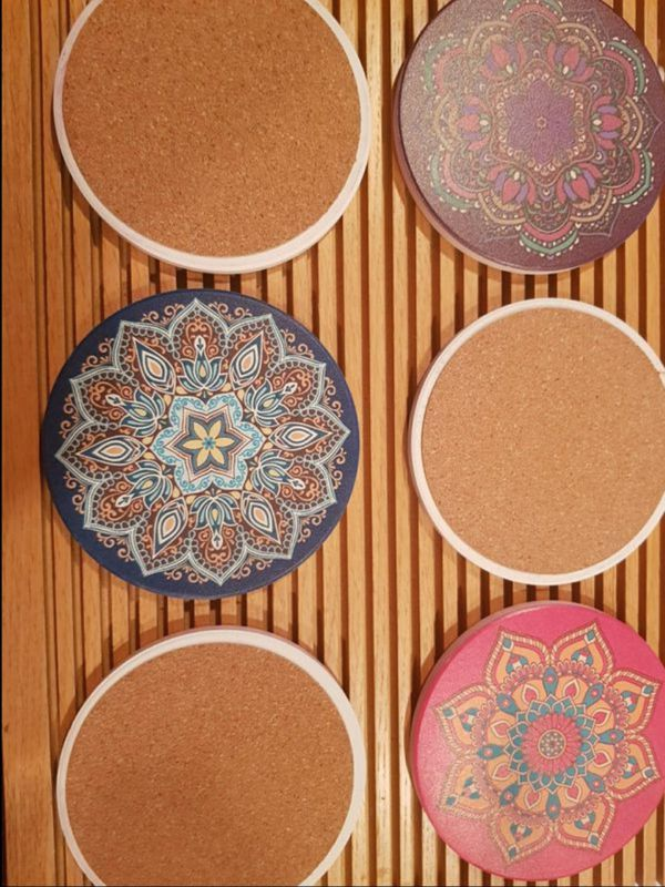 6 pcs - Home Decor Coasters - Absorbent Coaster for Drinks
