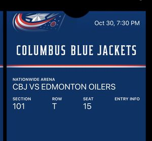Tickets to Columbus Blue Jackets Vs. Oilers for Sale in Columbus, OH
