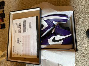 Air Jordan 1 retro high court purple white for Sale in Addison, TX