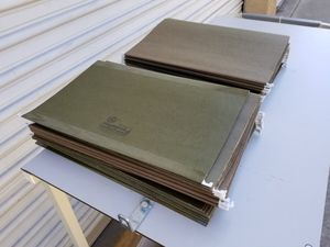 "50 Business Hanging Green Folders legal size 8.50"" x 14"" different brands for Sale in Pomona, CA"