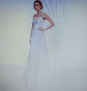 Size 14; Strapless Chiffon Beach Wedding Dress for Sale in Lewisville, TX