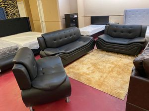 Living room three-piece finance available $39 down payment for Sale in Garland, TX