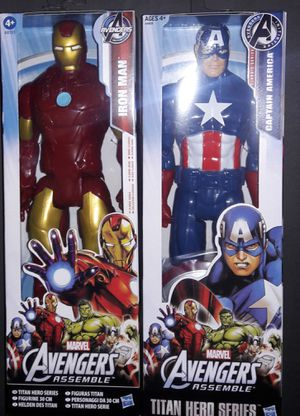 Iron Man & Captain America 12 Inch Action Figures. for Sale in Marietta, GA