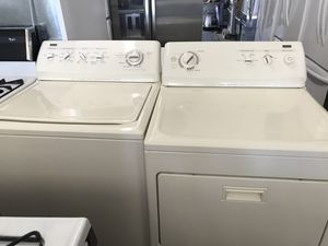 Used, set Kenmore Elite top load washer & dryer, almond color,( Electric dryer), heavy duty, super capacity plus, great condition for Sale in San Jose, CA