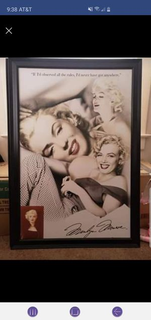 Marilyn monroe for Sale in Zanesville, OH