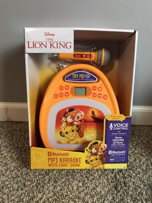 Disney Lion King Bluetooth MP3 Karaoke Machine with Light Show & Store Music NEW for Sale in French Creek, WV