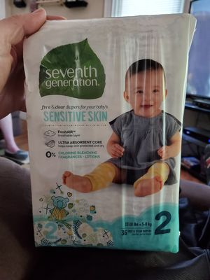 Seventh generation diapers for Sale in Attleboro, MA