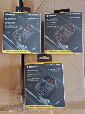 New Bluetooth fm transmitter usb fast charge hands free call function for Sale in Riverside, CA