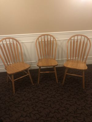 Solid Oak Kitchen Table Chairs for Sale in Vancouver, WA