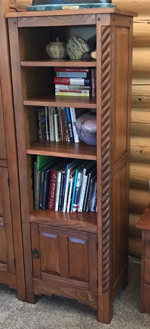 Mission style bookshelves/Entertainment accents for Sale in Evergreen, CO