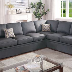 Elegant Sectional Sofa Couch w/ Skirt Comfy Fabric for Sale in Walnut, CA