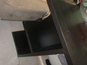 IKEA black desk for Sale in Houston, TX