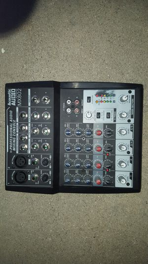 Acoustic Audio MX802 Mixer 8 Channel 2-Bus - $35 for Sale in Los Angeles, CA