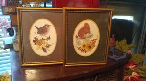"2×""Vintage"" (Small) Birdie Framed Art Pics. for Sale in Everett, WA"