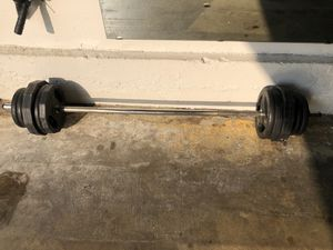 """1"""" barbell weight plate set bb lifting for Sale in Diamond Bar, CA"""
