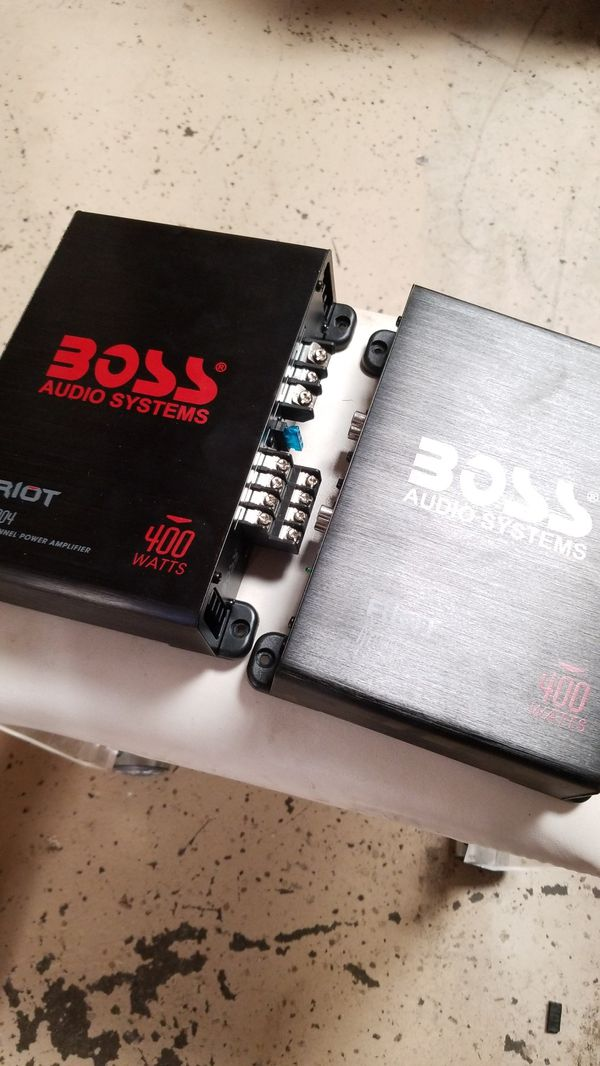 Boss riot 4 channel amps