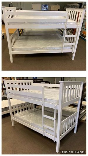 Twin size bunk bed frame with Mattresses included for Sale in Glendale, AZ