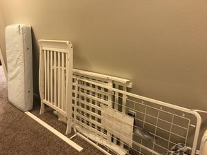 Crib- mattress included for Sale in Puyallup, WA