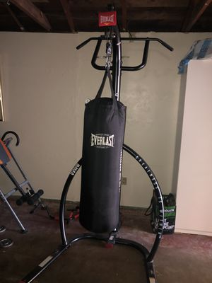 Punching bag and stand with pull-up bar(OBO) for Sale in Castro Valley, CA