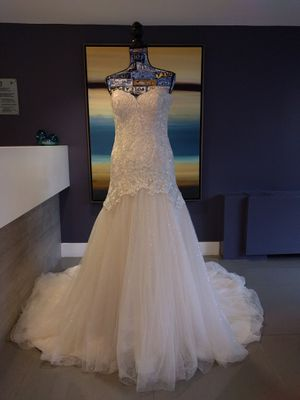 Jasmine Collection ivory strapless wedding gown dress for Sale in Alexandria, VA