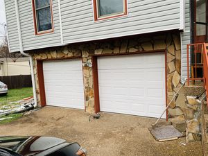Two white garage doors for Sale in Nashville, TN