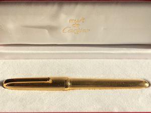 Must de CARTIER 'Louis Cartier' Fountain Pen GOLD plated very RARE for Sale in Arlington, VA