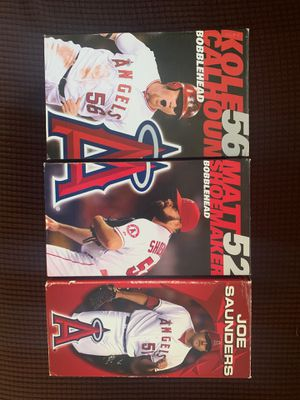 Angels Calhoun,Shoemaker and Saunders Bobbleheads for Sale in Yorba Linda, CA