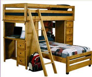 Twin Loft Bed w/ Ladder Dresser & Built In Desk for Sale in Tamarac, FL