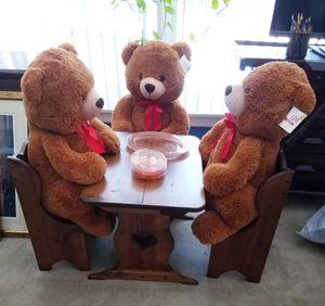 3 NEW Teddy Bears $15 FIRM for Sale in Pompano Beach, FL