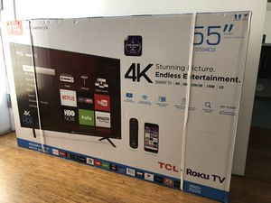 "TCL 55"" Class 4 Series 4K UHD HDR Roku Smart TV for Sale in Los Angeles, CA"