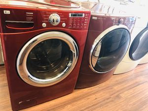 Lg washer and maroon Kenmore elite dryer for Sale in Pleasant Grove, UT
