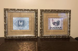 """Beautiful set of ornate frame wall art 14"""" by 16"""" for Sale in Clermont, FL"""