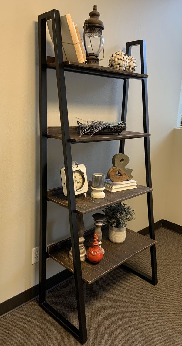 Industrial chic ladder shelf