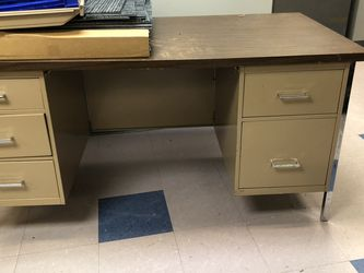 Free Desk And 3 File Cabinets for Sale in Gainesville,  GA