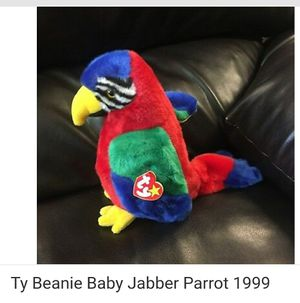1999 Rare, Collectible Retired TY Jabber Beanie Buddies Parrot Plush Toy for Sale in Lacey, WA
