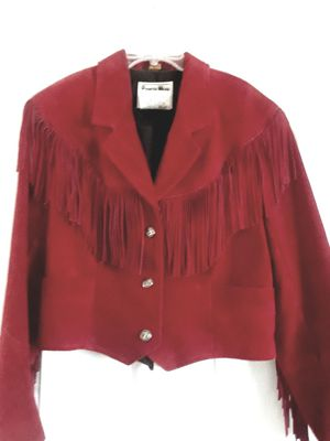 Red Fringed Suede Jacket for Sale in Deltona, FL