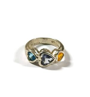 925 Sterling silver ring with colored zircon size 9 for Sale in Bloomfield Hills, MI