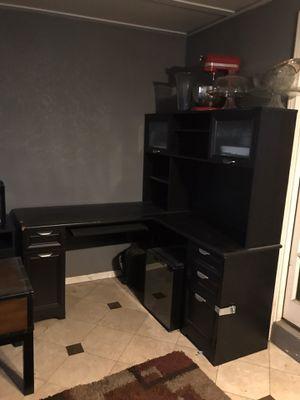 Large black desk for Sale in San Diego, CA